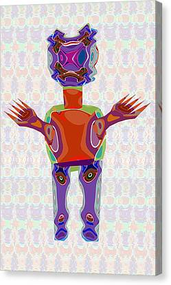 Duckelle Cartoon Character  Alien Monster Art Graphic Design Digital Complex Funny Comic Collage Col Canvas Print