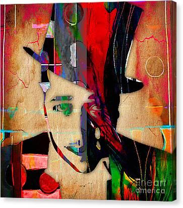 Duke Ellington Collection Canvas Print by Marvin Blaine