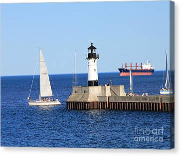 Duluth Mn Harbor Canvas Print by Lori Tordsen