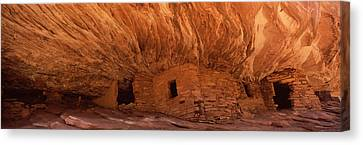 Dwelling Structures On A Cliff, House Canvas Print by Panoramic Images