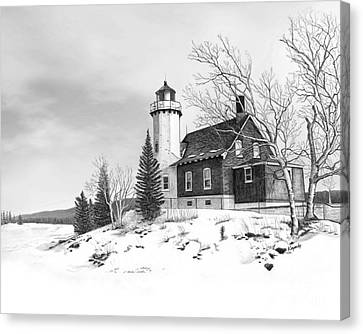 Eagle Harbor Lighthouse Canvas Print by Darren Kopecky
