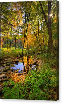 Kent Connecticut Canvas Print - Early Autumn by Bill Wakeley