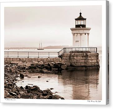 Canvas Print featuring the photograph Early Morning Bug Light by Richard Bean