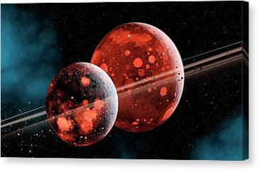 Earth-moon System Formation Canvas Print