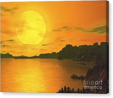 Gliese Canvas Print - Earthlike Planet Gliese 581 C, Artwork by Walter Myers