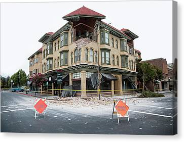 Napa Canvas Print - Earthquake Damage by Peter Menzel