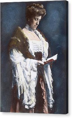 Edith Wharton (1862-1937) Canvas Print by Granger