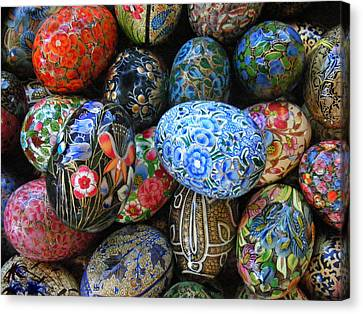 Canvas Print featuring the photograph Egg Basket by Sylvia Thornton