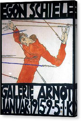 Martyr Canvas Print - Egon Schiele (1890-1918) by Granger
