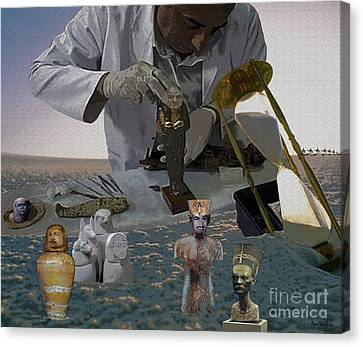 Canvas Print featuring the digital art Egyptian Artifacts by Megan Dirsa-DuBois