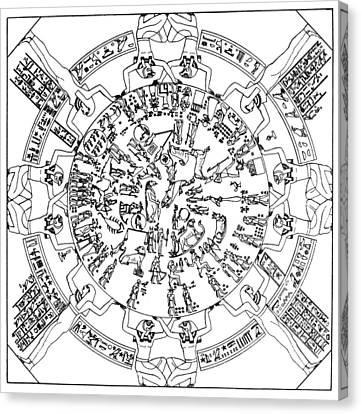 Egyptian Celestial Sphere Canvas Print