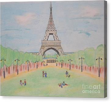 Eiffel Tower Canvas Print by Denise Tomasura