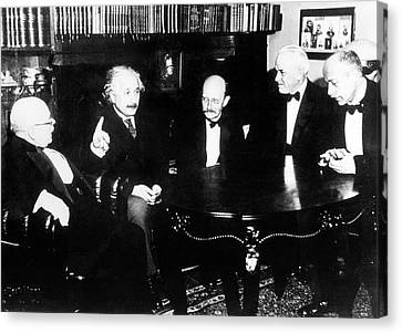 Swiss Canvas Print - Einstein by Emilio Segre Visual Archives/american Institute Of Physics