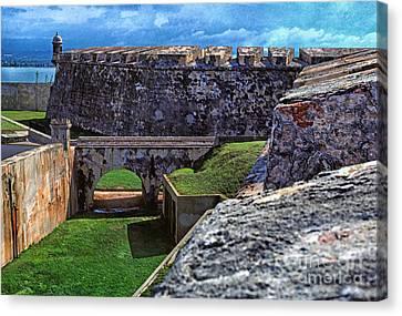 El Morro Fortress Old San Juan Canvas Print by Thomas R Fletcher