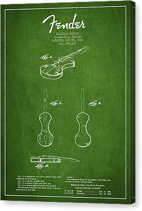 Electric Violin Patent Drawing From 1960 Canvas Print