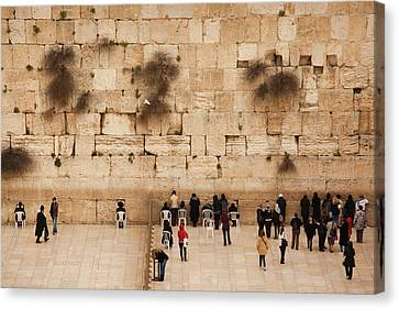 Elevated View Of The Western Wall Plaza Canvas Print