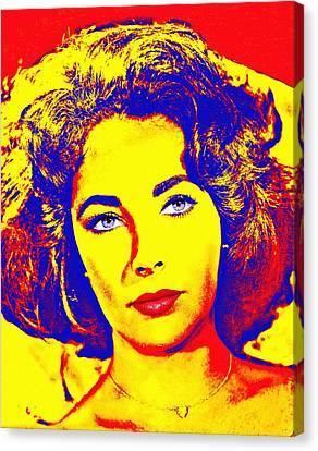 Elizabeth Taylor Canvas Print by Art Cinema Gallery