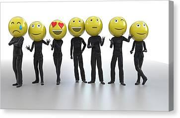 Emojis Canvas Print