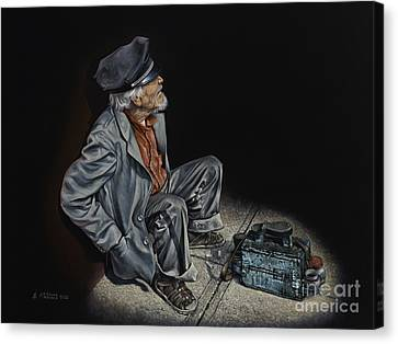 Chavez-mendez Canvas Print - Empty Pockets by Ricardo Chavez-Mendez