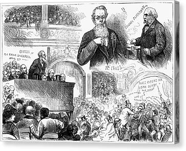 England Election, 1880 Canvas Print by Granger