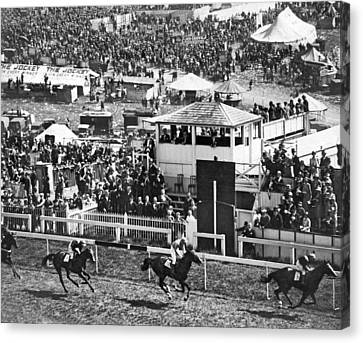 Epsom Derby Victory Canvas Print