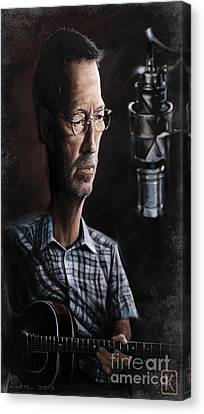 Eric Clapton Canvas Print by Andre Koekemoer