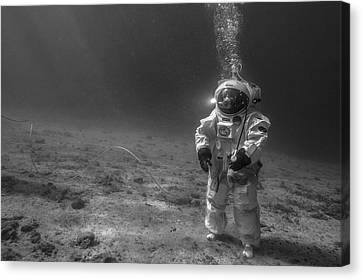 Esa Underwater Astronaut Training Canvas Print