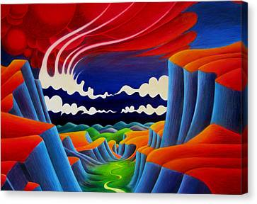 Canvas Print featuring the painting Escalante by Richard Dennis