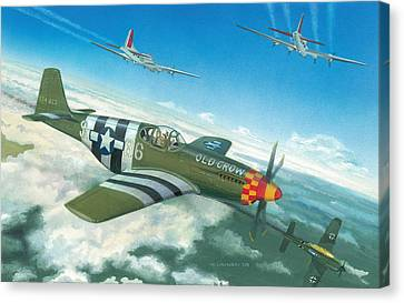 Clarence Canvas Print - Escort Duty by Norb Lisinski