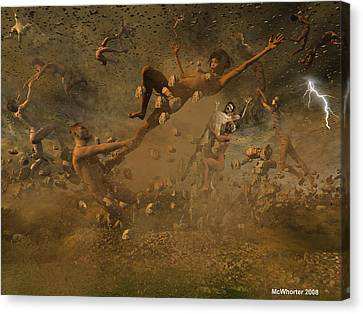Eternally Rooted -turbulence Canvas Print by Williem McWhorter