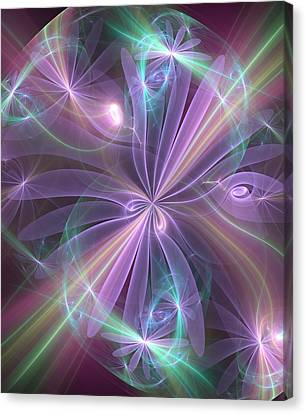 Ethereal Flower In Violet Canvas Print