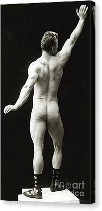 Homo-erotic Canvas Print - Eugen Sandow In Classical Ancient Greco Roman Pose by American Photographer