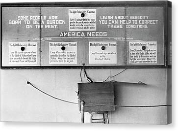 Eugenics Exhibit At Public Fair Canvas Print
