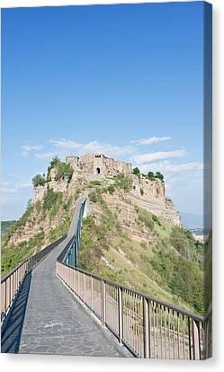 Europe, Italy, Umbria, Civita, Bridge Canvas Print
