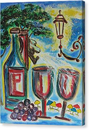 European Wine Canvas Print by Diane Pape