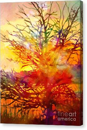 Abstract Expressionism Canvas Print - Evening Glow by Lutz Baar