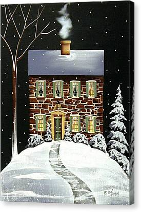 Evergreen Cottage Canvas Print