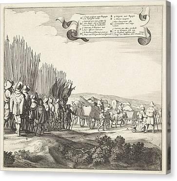 Exodus From The Spanish Army From Maastricht Canvas Print by Jan Van De Velde (ii) And Jan Martszen De Jonge And Claes Jansz. Visscher (ii)