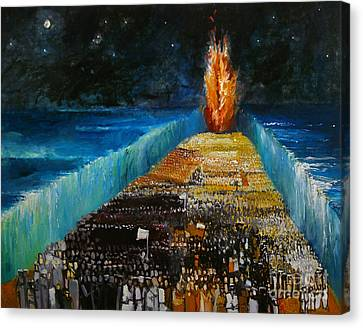Exodus Canvas Print by Richard Mcbee