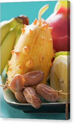 Exotic Fruit Still Life Canvas Print