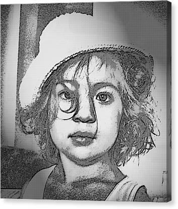 Eyes In Black Canvas Print