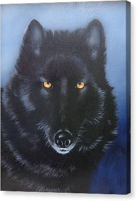 Eyes Of The Wolf Canvas Print