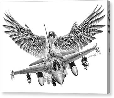 Dale Jackson Canvas Print - F-16 Fighting Falcon by Dale Jackson