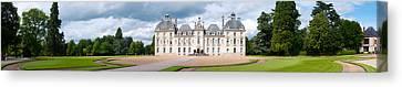 Facade Of A Castle, Chateau De Canvas Print