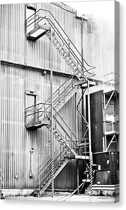 Industrial Background Canvas Print - Factory Steps by Tom Gowanlock
