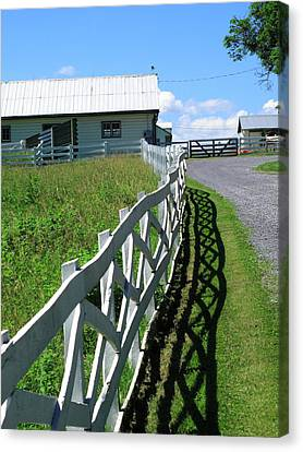 Farm And Fence Canvas Print by Frank Romeo