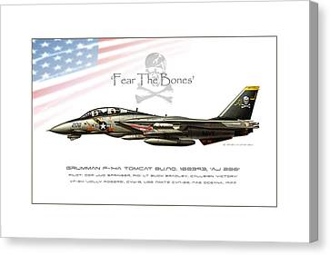 Fear The Bones Canvas Print by Peter Van Stigt