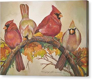 Feathered Friends Canvas Print by Cheryl Borchert