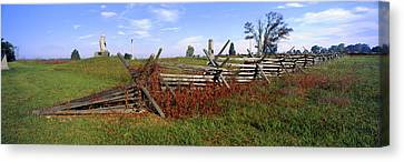 Fence At Gettysburg National Military Canvas Print by Panoramic Images