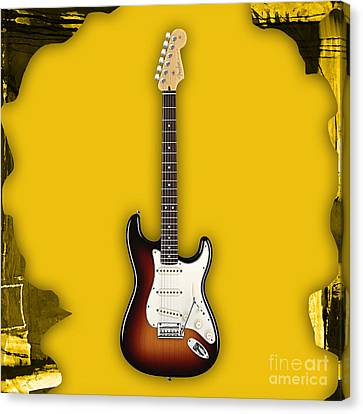 Fender Strat Canvas Print - Fender Stratocaster Collection by Marvin Blaine